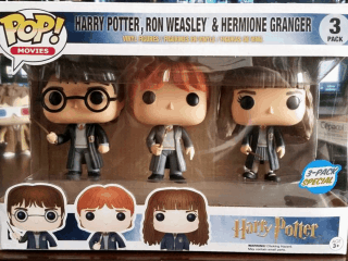 Harry Potter Funko Pop Pack Hogwarts Express & Harry Potter Ron & Hermione - Funko POP!/Pop! Harry Potter - Little Geek