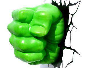 Marvel Comics lampe 3D LED Hulk Fist