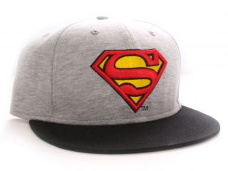 Superman casquette baseball Vintage Logo grey
